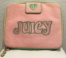 Juicy Couture Pink/Green Velour Laptop Case 15""