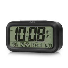 Peakeep Digital Dual Alarm Clock with Snooze and Nightlight, Battery Operated fo