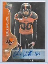CHRIS WILLIAMS BC LIONS 2017 UD CFL FOOTBALL AUTOGRAPH #79