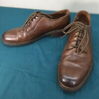 Used Frye 19031 Brown Leather Mens Loafers Shoes Lace Up sz 10 D Sold AS IS