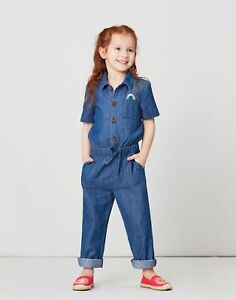 Joules Girls Lauren Chambray Jumpsuit - Chambray - 9Yr-10Yr