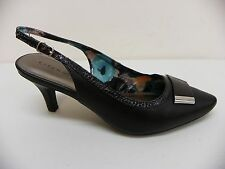 Karen Scott Shoe Gracelynn Slingback High Heel Pump Black Faux Leather 8.5 M $59