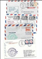 U.S.(+IRELAND)- 4 different pan am first flights-1954/1964- all backstamped