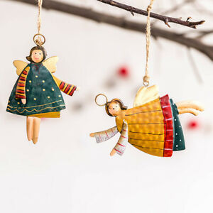 Christmas Wrought Iron Angel Old Man Small Pendant Decoration Accessories-