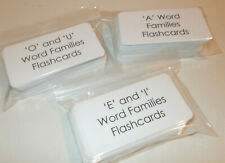 "216 Letters ""A, O and U, E and I"" Word Families Flash Cards. 3 individual sets."