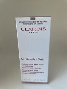Clarins  Multi-active Nuit Targets fine lines,revitalizing Night Cream NIB