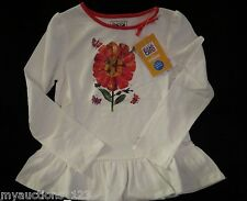 NWT Gymboree The World of Eric Carle The Tiny Seed Flower Ruffle Top Shirt 3 3T