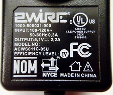 ACWS011C-05U 2Wire 5.1V AC/DC Power Supply Adapter Charger 1000-500031-000
