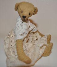 "RARE $150 Christy's Bear ""AGATHA"" OOAK Mohair Bear 6.5"" Tall 5XDisc Antique Lace"