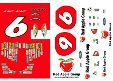 #6 Mark Martin Red Apple Group 2005 1/43rd Scale Slot Car Waterslide Decals