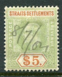 STRAITS SETTLEMENT....     1902-03    $5, Sg121    used