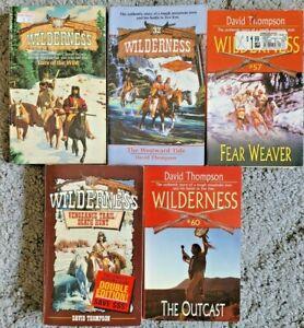 WILDERNESS SERIES DAVID THOMPASON VINTAGE WESTERN SERIAL PAPERBACK 5 BOOK LOT