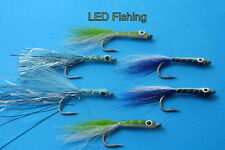SALWATER FLIES SURF CANDY'S #2 BY AQUASTRONG 6 X ASSORTED (103)