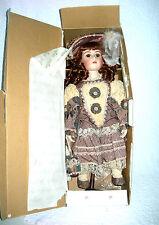 "Ashton Drake 21"" Porcelain Doll-William Tung-Victorian-Brown Dress-freeUSAship"