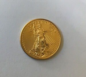 Solid Fine Gold 2013 1/10 oz American Eagle $5 Standing Liberty Coin