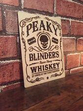 Peaky Blinders Wood Burning Art Whiskey Jack Daniels Gift Rustic Home Decor Sign