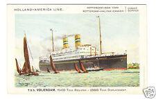 Holland-American Line Steamer - T.S.S. Volendam  1930s