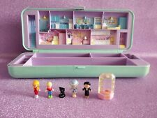 Plumier maison Polly Pocket vintage  personnages chat Bluebird 1990 pencil case