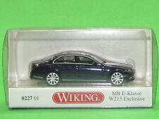 1:87 Wiking 022701 MB E-Klasse W 213 Exclusive - cavansitblau metallic