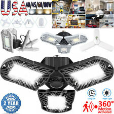 E27 LED Garage Light Bulb Deformable Ceiling Fixture Lights Lamp Motion Activate