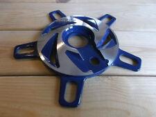 Platos y coronas azul para bicicletas