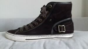 Belstaff Suede Leather Shoes Trainers Sneakers Chucks 43