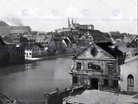 REGNITZ AND MICHAELSBERG BAMBERG BAVARIA GERMANY 1895 OLD BW PHOTO PRINT 714BWB