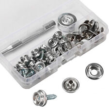 STAINLESS STEEL BOAT COVER CANVAS SNAP FASTENER REPAIR KIT- 62 PIECE SL MARINE