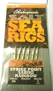 Shakespeare Strike Point 6 Hook Sabiki RAINBOW Rig - 1278757