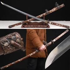 Boutique Japan Samurai Sword Katana Clay Tempered T10 Steel Copper Fitting Sharp