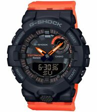 Casio G-Shock Women's Step Tracker Black/Orange Watch GMAB800SC-1A4