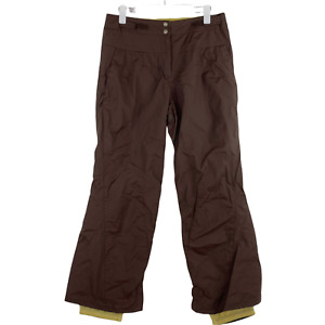 Columbia Convert Womens Brown Snow Snowboard Water Resistant Lined Pants M EUC