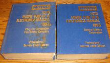 1990-1993 MOTOR Auto Engine Tune Up & Electronics Manual Vol 1 2 Set 91 92