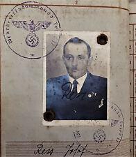 VINTAGE WW2 GERMAN SOLDIERS WAR BOOK WEHRPASS WW1 VETERAN JOSEF REIS