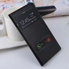 Cover CUSTODIA PELLE doppia finestra +posteriore per Samsung Galaxy Note 2 N7100