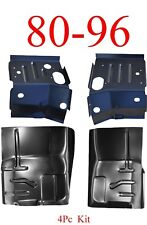80 96 Ford 4Pc Cab Floor & Cab Mount Floor Support Kit, Ford Truck & Bronco