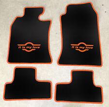 Autoteppiche Fußmatten für Mini Cooper I  R50 R53 schwarz orange 01'-06' 4teilig