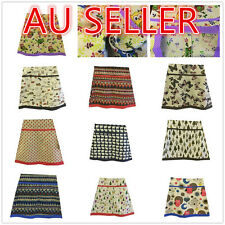Girl Women Spring Summer Autumn Fashion A-line Skirt Vintage  Linen Size 8 - 26
