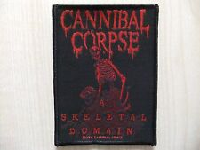 Patch ricamate-Cannibal Corpse-A scheletrici Domain-Dying Fetus-Unleashed