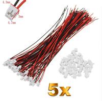 5 Set (10 Stück) 2Pin ZH 1.5mm 1,5mm Mini Micro JST Stecker 15cm Kabel + Buchse
