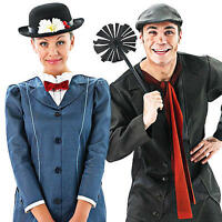 Disney Mary Poppins Adults Fancy Dress 1960s Bert Edwardian Mens Ladies Costumes