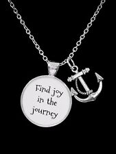 Inspirational Direction Nautical Gift Necklace Anchor Find Joy In The Journey
