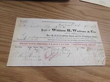 WILLIAM H, WALLACE & CO. - IRON MERCHANTS - NEW YORK   - BILLHEAD - 1878