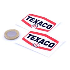 Texaco Stickers Classic Car Motorcycle Racing Sticker Vinyl Decals 50mm x2