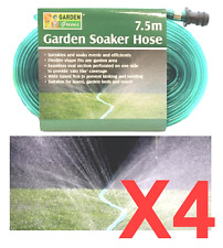 *SOAKER HOSE* 7.5m x 4 PACK Flat Flexible Garden Lawn Sprinkler Water Drip Tube