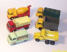 MATCHBOX Lesney Vintage RW Lot Of 6 Models FODEN Commer Milk Float STAKE TRUCK