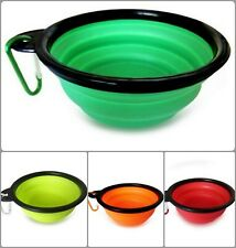 Pet Silicone Travel Soft Dog Cat Folding Bowl Portable Collapsible Food Water