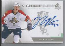 2013-14 SP Authentic Hockey Nick Bjugstad Sign Of The Times Auto Card # SOT-NR