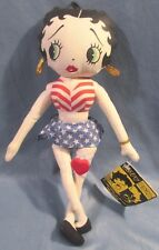"""1999 Kellytoy All American Betty Boop Cloth Doll Stuffed Toy 12"""" King Features"""