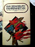 Vintage Paperback FAHRENHEIT 451 BY RAY BRADBURY! Science Fiction! VERY FINE!